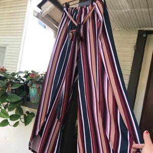Myesper Apparel Pants & Jumpsuits - Myesper Apparel 1x wide leg boho striped pants